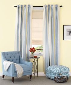 Add Vertical Stripes | Living in an apartment, or in an older home with tiny rooms, can present a challenge: how to make your limited space seem larger. Try these easy home-decorating ideas.