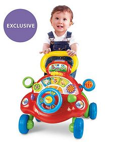 Suitable from 6 months, the V-Tech Toot Toot Walker features lots of fun activities to entertain your little one, and is also ideal for supporting them as they learn to take their first steps.