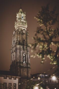 a little night magic at Torre dos Clérigos, Porto Most Beautiful Cities, Beautiful Buildings, Beautiful Beaches, Porto City, Night City, Make New Friends, Lonely Planet, World Heritage Sites, Architecture Details
