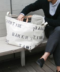 TARTINE BAKERY × PORTER × B mark YOSHIDA BREAD BASKET B mark YOSHIDA (BEAMS × PORTER) of (B mark Yoshida) (tote bag) | White