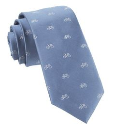 Two-wheeler Bicycle Ties - Slate Blue | Ties, Bow Ties, and Pocket Squares | The Tie Bar