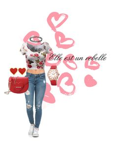 """""""Elle est un rebelle"""" by blueindiansummer ❤ liked on Polyvore featuring Love Moschino, bürgi, valentines and valentinesday2016"""