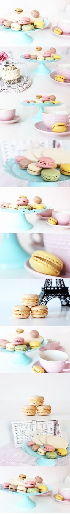 Fun things to do when you're bored:  - Take pictures of macarons!  For more, click the image!  Pastel macarons, macaron, cute, happy, french, cookies, photography
