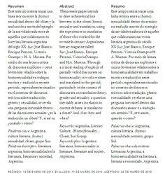 El clóset del traductor: la edición de sexualidades en la cultura literaria argentina | The Translator's Closet: Editing Sexual Content in Argentinean Literary Culture | O Armário do tradutor: a edição de sexualidades na cultura literária Argentina | PDF de descarga gratuita: https://www.academia.edu/4980624/El_closet_del_traductor_Editando_sexualidades_en_la_cultura_literaria_argentina
