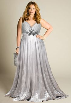 Katrin Plus Size Silver Gown (Made To Order) Source by jochenfriedel size gowns Plus Size Gowns, Wedding Dresses Plus Size, Plus Size Wedding, Trendy Dresses, Plus Size Outfits, Casual Dresses, Girls Dresses, Prom Dresses, Ivory Dresses