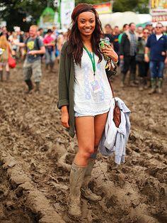 Glastonbury festival fashion