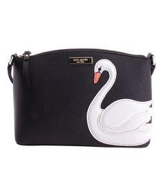 Look what I found on #zulily! Black Millie Swan Around Leather Crossbody Bag #zulilyfinds
