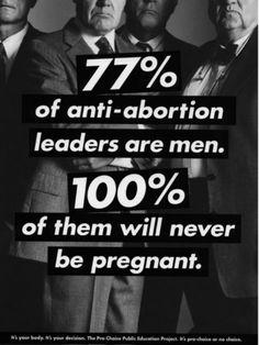 77 % des leaders anti-avortement sont des hommes