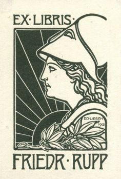 Ex Libris - Friedrich Rupp. Created by Liesen, Eduard (1866-1945)