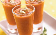 Suppe med grillet rød paprika