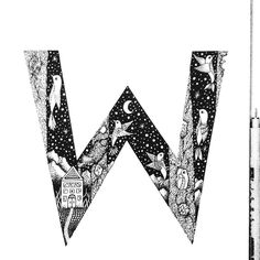 Typographical Illustrations // W is for Woodpeckers  #woodpecker #flowers #details #typegang #typedaily #goodtype #letteringco #TYxCA #iblackwork #flowers #typography #drawing #typographyinspired #thedailytype #art_empire #creative_instaarts #featuregalaxy #love #me #pen #ink #photooftheday #sketchbook #bw #art #alphabet #w by menis_art