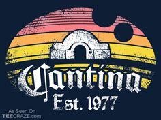 Cantina T-Shirt - http://teecraze.com/cantina-t-shirt/ -  Designed by Warbucks Design    #tshirt #tee #art #fashion #clothing #apparel #StarWars