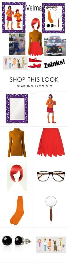 """DIY Velma costume"" by niqueyboop ❤ liked on Polyvore featuring Howard Elliott, Ann Demeulemeester, Miu Miu, ZeroUV, Belk & Co., Lanvin, halloweencostume and DIYHalloween"