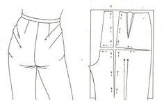 PRUEBA PANTALON: POSIBLES DEFECTOS Y SOLUCIONES Blazer Pattern, Pants Pattern, Sewing Jeans, Sewing Clothes, Pattern Cutting, Pattern Making, Simple Sewing Machine, Sewing Alterations, Couture Sewing