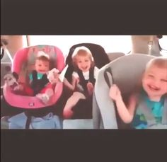 These kids seriously know how to work a baseline in the back of the car! Watch it by hitting the image...  #Cute #Lol