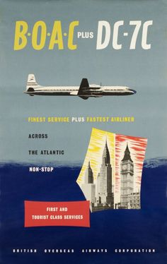 BOAC plus DC-7C -- colors? Dark blue paired with puke yellow?
