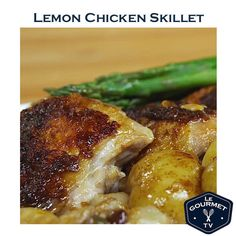 Looking for a one pan chicken meal idea? Hate to clean up? Here it is - dinner is cooked all in one frypan!