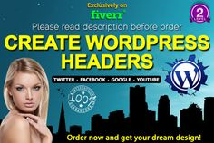 create professional wordpress headers by headersdesigner
