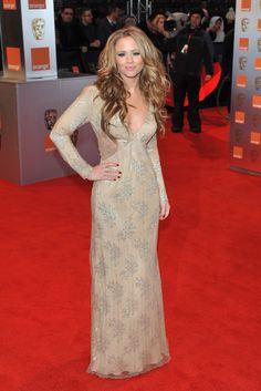 Kimberley Walsh in Ashley Isham at the 2011 BAFTAs