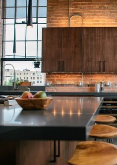 This super cool loft designed by CityHomeCOLLECTIVE in  Salt Lake City is featured on today's blog post! PentalQuartz countertops in Coastal Grey.