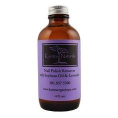 Karma Organic Spa Nail Polish Remover Organic Lavender Remover 4 Fl. NEW!! | eBay