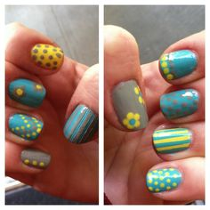 AMAZING nail art! Great for spring!