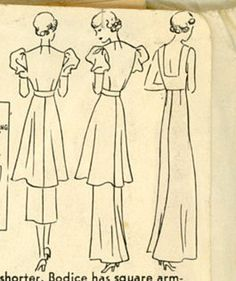 1930s Evening Dress Pattern Hollywood 1160 by CynicalGirl on Etsy