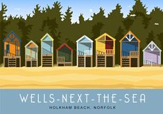 A few beach huts on Holkham Beach, Wells-next-the-Sea, Norfolk. A4 print £18 from http://www.whiteonesugar.co.uk/norfolk/holkham.htm