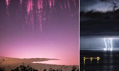 Red sky at night: Photographer spends months chasing elusive red sprites. These are caused by the electrical discharges of lightning during thunderstorms. So pretty!