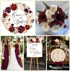 Ideas para una Boda en colores blanco y burgundy!!...#ideas #partyideas #partydecor #wedding #weddingideas #boda #burgundy #decoraconestilo #ideasparacelebrar #ideasdecoracion #celebraconestilo #matrimonio #novia #bride #susanitascakes #susanitasparty #talentovenezolano mas en www.facebook.com/Susanitascakes ó instagram  @ susanitascakes