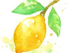 Impresión de fruta fruta arte impresión giclee arte por ChiFungW
