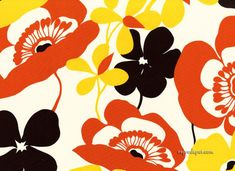 Alexander Henry furnishing fabric - Sofia in Brown and Orange