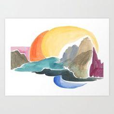 Cool Coast Art Print