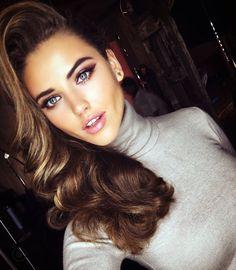 great-hair-and-eyes: Kristina Krayt Most Beautiful Eyes, Stunning Eyes, Gorgeous Eyes, Beautiful Body, Hot Brunette, Brunette Beauty, Hair Beauty, Kristina Krayt, Non Blondes