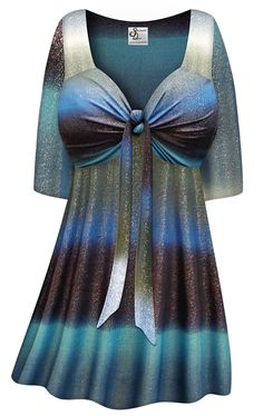 a1e236edf0a SOLD OUT! Customizable Tide Glimmer Slinky Tie Babydoll Shirt Plus Size    Supersize Lg XL 1x 2x 3x 4x 5x 6x 7x 8x