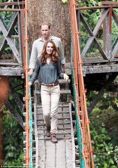 Borneo rainforest adventure for the Duke and Duchess
