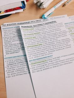 studysthetics:   17/dec - highlighting notes from... - The Organised Student