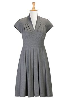 eShakti Feminine pleated knit dress. Love this dress...cool site...choose what fits u best