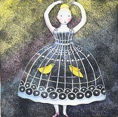 Birdcage Dress by Kristina14 on Etsy, $30.00