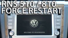 How to force restart #RNS510 #RNS810 system #Volkswagen #Skoda #Seat