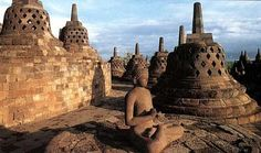 Borobodur Temple -- I remember playing here among the Buddhas when I was a child.  I would love to go back.