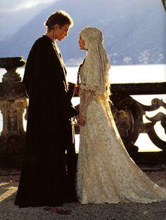 Anakin Skywalker's and Padmé Amidala's wedding on Naboo, in Star Wars Episode II: Attack of the Clones  (Hayden Christensen and Natalie Portman)