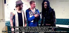 Bryan Stars interview with Andy Biersack (Black Veil Brides) + Danny Worsnop (Asking Alexandria)