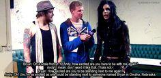 Bryan Stars interview with Andy Biersack (Black Veil Brides) + Danny Worsnop (Asking Alexandria)