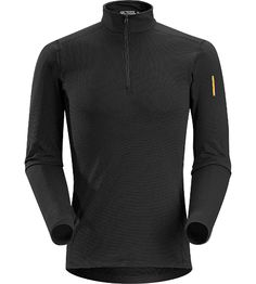 Arcteryx Phase SV Zip Neck LS Men's Moisture-wicking base layer zip neck top, constructed using odour-control fabric; Ideal as mid-level insulation during stop-and-go activities.