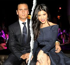 """Kourtney Kardashian and Scott Disick Kourtney Kardashian and Scott Disick split over the July 4th weekend after photos surfaced of him getting close to an ex-girlfriend while vacationing in the South of France without his longtime love. """"Kourtney is freaking out and kicked him out,"""" a source told Us Weekly of the eldest Kardashian sister after she saw the images. The reality TV stars began dating in 2006, and have three children together: Mason, Penelope, and Reign."""