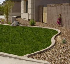 Curbing installed by Element Curbing Concrete edging Garden