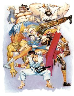 The history of Street Fighter As told by these who were there. Street Fighter 2, Capcom Street Fighter, King Of Fighters, Street Fighter Hadouken, World Of Warriors, Illustration Art Drawing, Classic Video Games, Street Fights, Video Game Art
