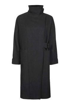 '80s Wool Coat - Topshop USA