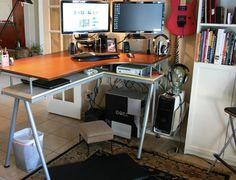 Are you a member of the type-all-day crowd? Whether you're tapping away highly complex code or churning out clever quips in the way of content, it's more likely than not that you spend the bulk of your workday sitting at a desk. But did you know that it is way better for your health and productivity to stand at your desk?  Here are 10 examples of homemade standing desks to inspire a healthier workday.